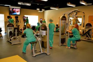 North Sunflower Medical Center staff working out